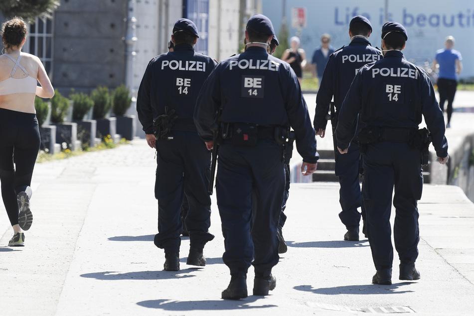 Nackter Mann bewirft Polizei mit Ziegelsteinen