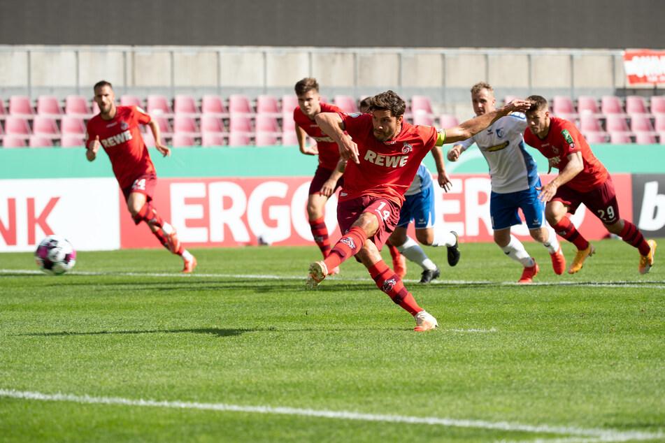 Jonas Hector bringt den FC per Elfmeter mit 1:0 in Führung (17.).