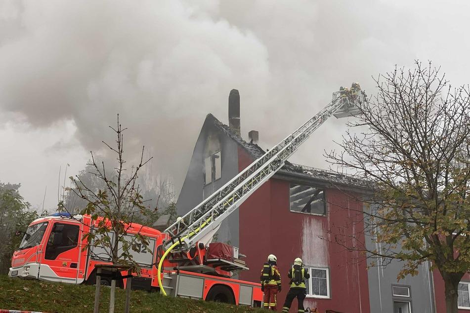 Am Dienstagnachmittag stand in Gotha ein Mehrfamilienhaus in Flammen.