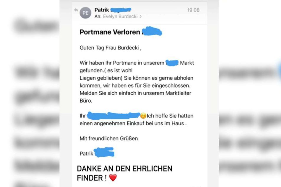 Ein Mitarbeiter des Supermarkts, in dem Evelyn Burdecki (32) am Montag eingekauft hatte, schrieb der 32-Jährigen eine E-Mail. Bei Instagram teilte sie die netten Worte mit ihren Fans.