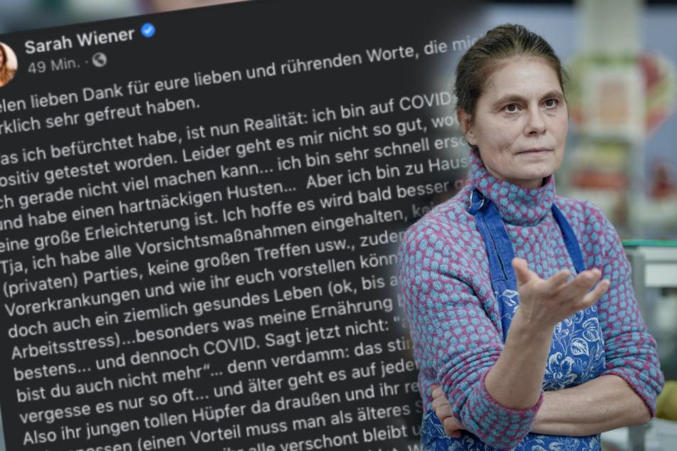 """Fans in Sorge! TV-Köchin Sarah Wiener hat Corona: """"Mir geht es nicht gut"""""""