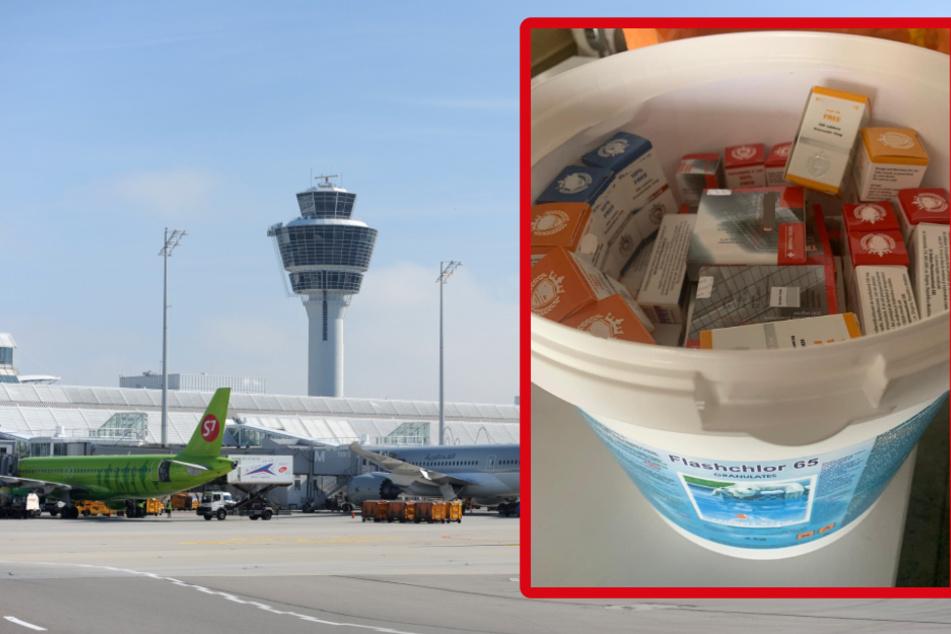 München: Mega-Fund am Flughafen München: Eimerweise Dopingmittel entdeckt!