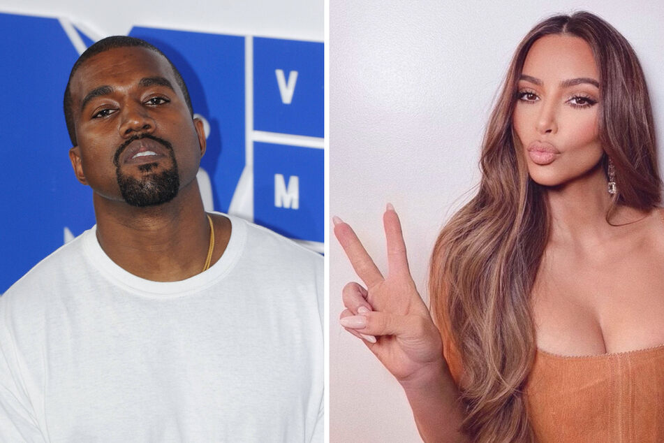 Entrepreneur Kim Kardashian (40) and musician Kanye West (43) are apparently on the brink of divorce (collage).