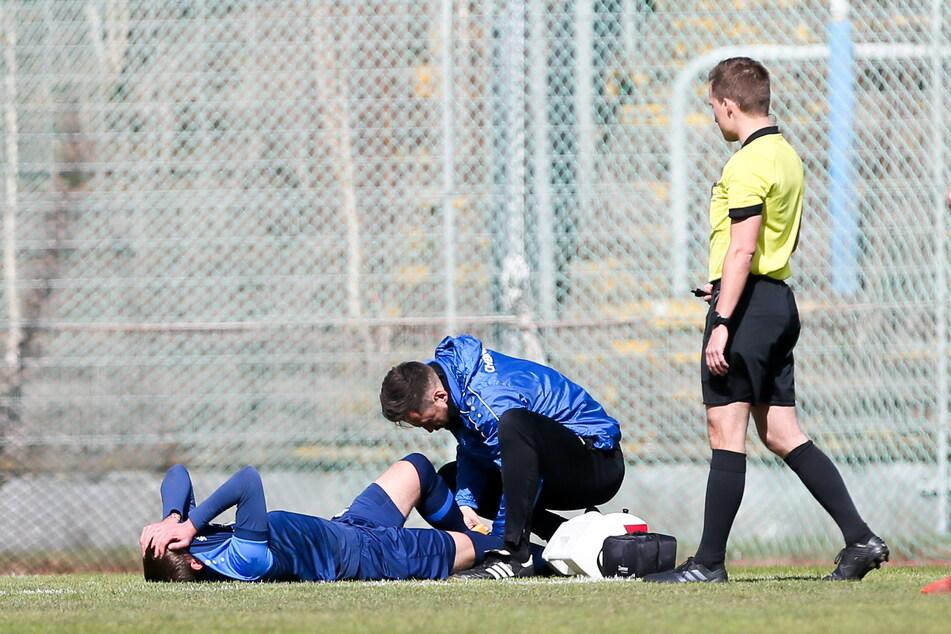 Paul Milde verletzte sich am Sprunggelenk und musste raus.