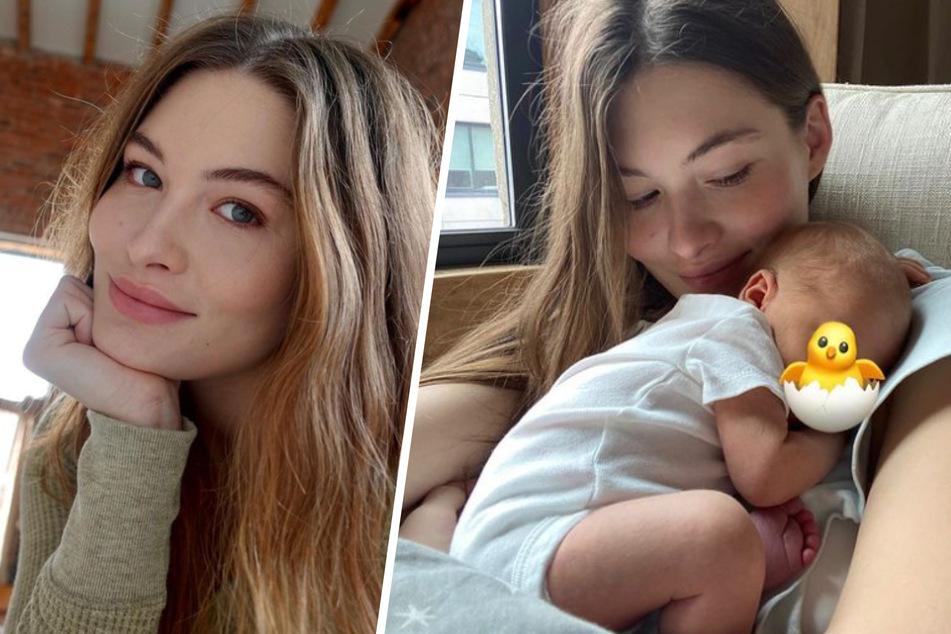 The Victoria's Secret model Grace Elizabeth (24) couldn't be happier: she's finally a mom!