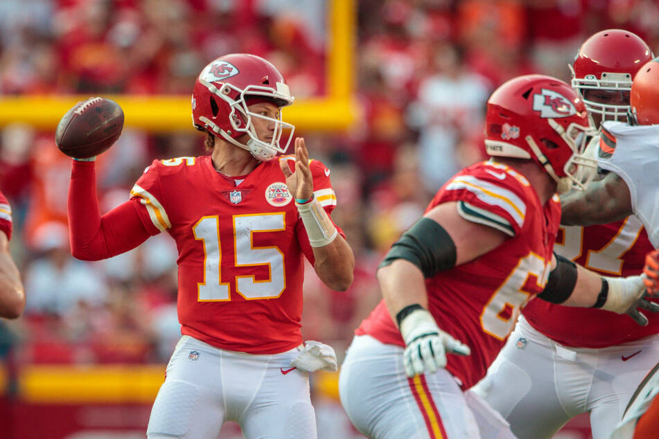Chiefs quarterback Patrick Mahomes threw for three touchdowns and ran for another as Kansas City beat Cleveland on Sunday.