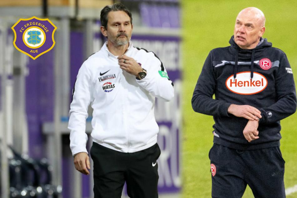 Aue-Coach Schuster freut sich aufs Wiedersehen mit Fortuna Düsseldorf-Trainer Rösler