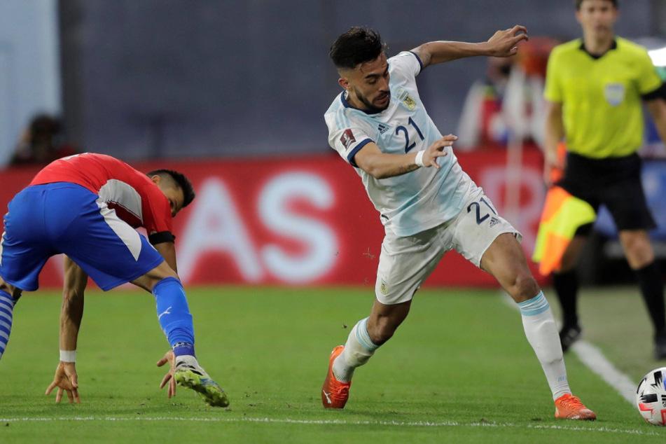 Nicolas Gonzalez trumpft bei der Partie gegen Paraguay auf.