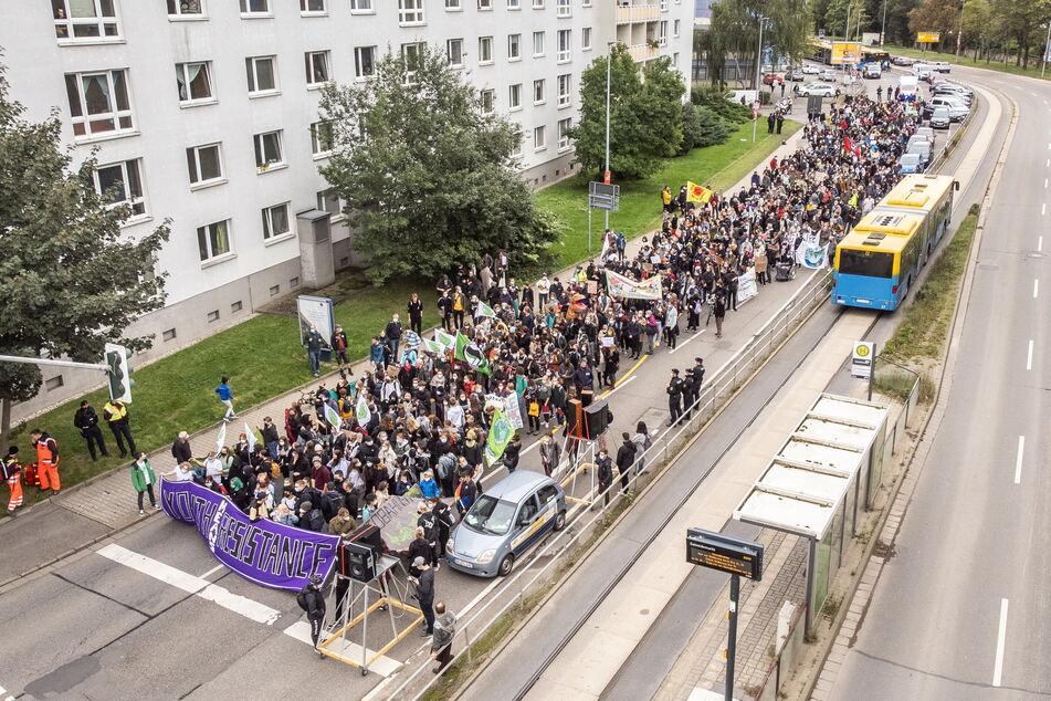 Laut Veranstalter waren 1000 Teilnehmer am Demo-Zug beteiligt.