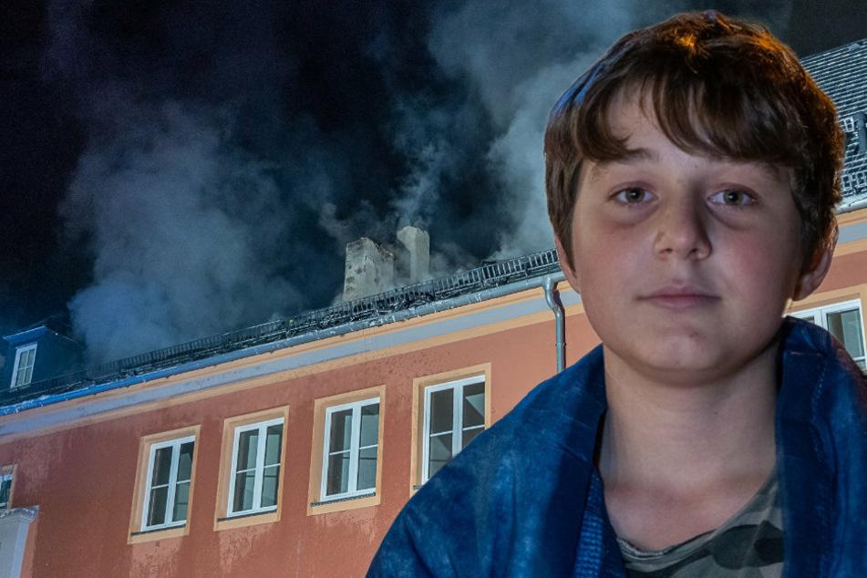 Dachstuhlbrand im Vogtland: Deni (14) wird zum Lebensretter