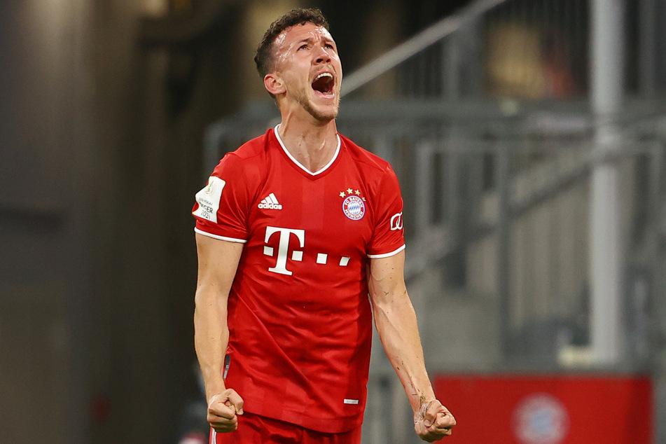 Ivan Perisic vom FC Bayern München bejubelt seinen Treffer zum 1:0 gegen Eintracht Frankfurt.