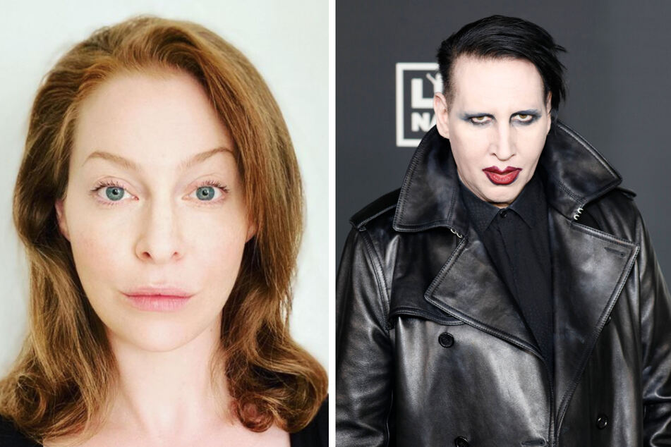 Actor Esmé Bianco (l.) has filed a federal lawsuit against Marilyn Manson (r.) citing rape and abuse.