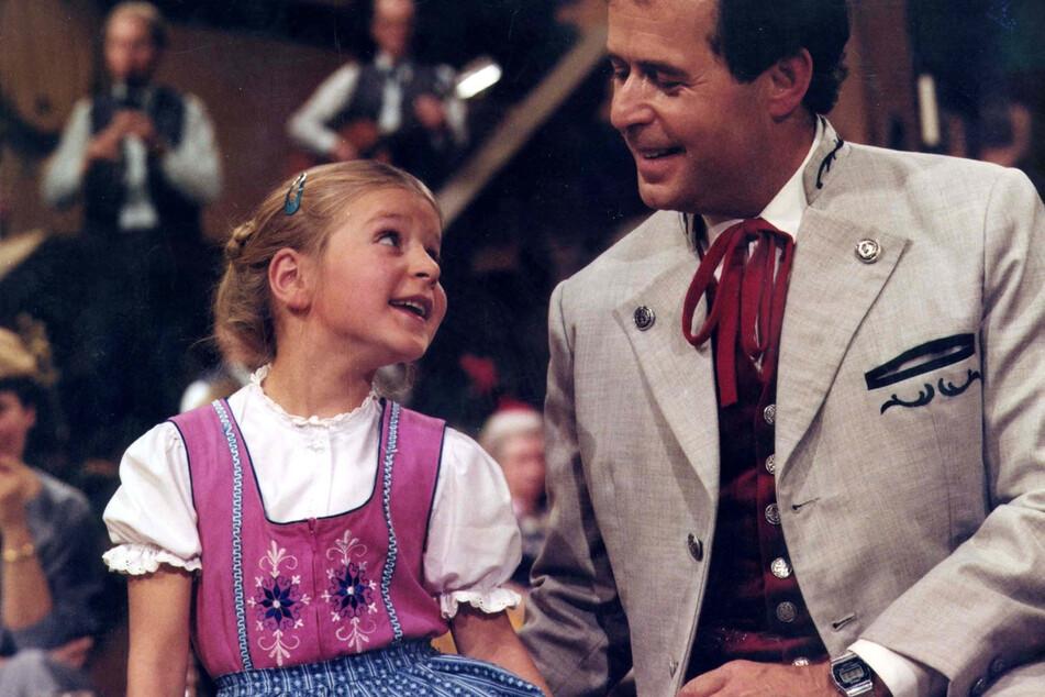 1985: Stefanie Hertels erster TV-Auftritt mit Papa Eberhard.