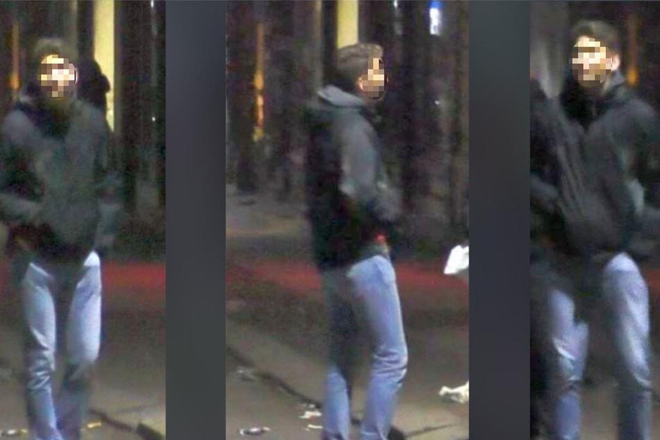 Dieser junge Mann soll mit Pyrotechnik nach Polizisten geworfen haben.