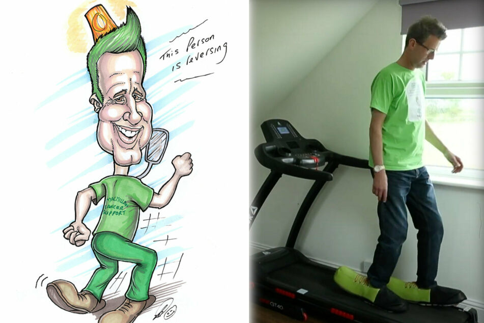 Stepping backward to move forward: Man wants to walk 100 miles in reverse for charity!