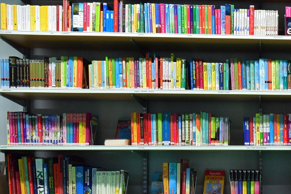 Putzfrau ordnet Bücher nach Größe, ausgerechnet in der Bibliothek!