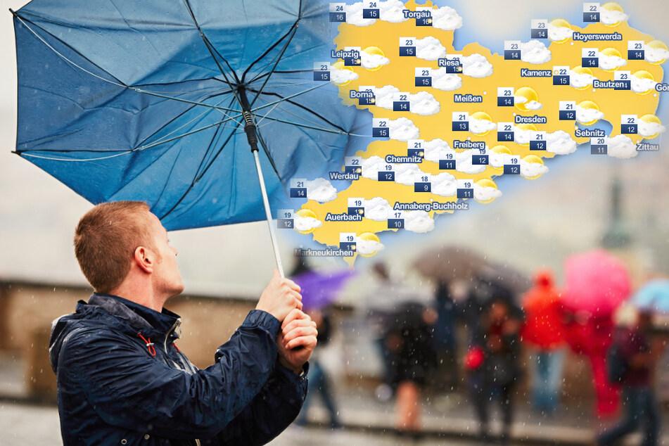 Wolken, Regen und orkanartige Sturmböen: Hat der Sommer sich aus Sachsen verabschiedet?