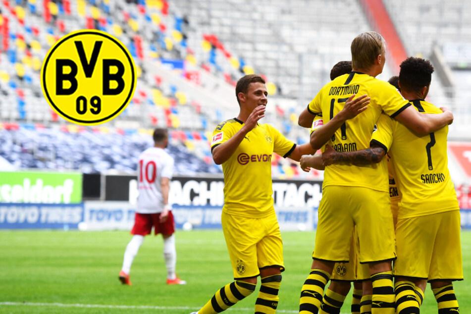 BVB-Erlösung in der Nachspielzeit! Erling Haaland köpft Dortmund zum Duselsieg