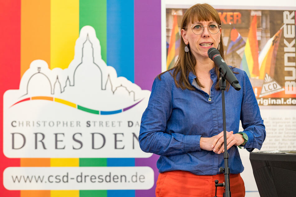 Justizministerin Katja Meier (41, Grüne) sprach zur Eröffnung.