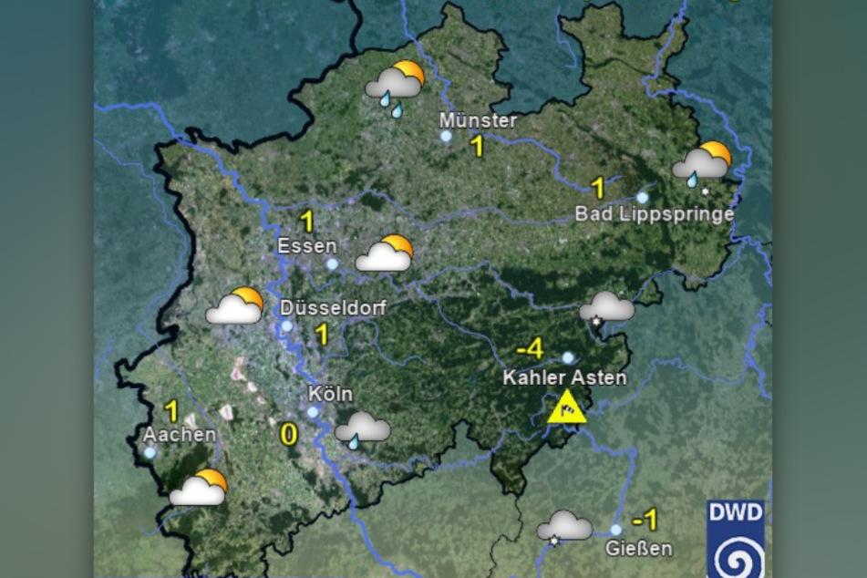 Am Mittwochmorgen soll es in NRW Temperaturen um die 0-Grad-Marke geben.