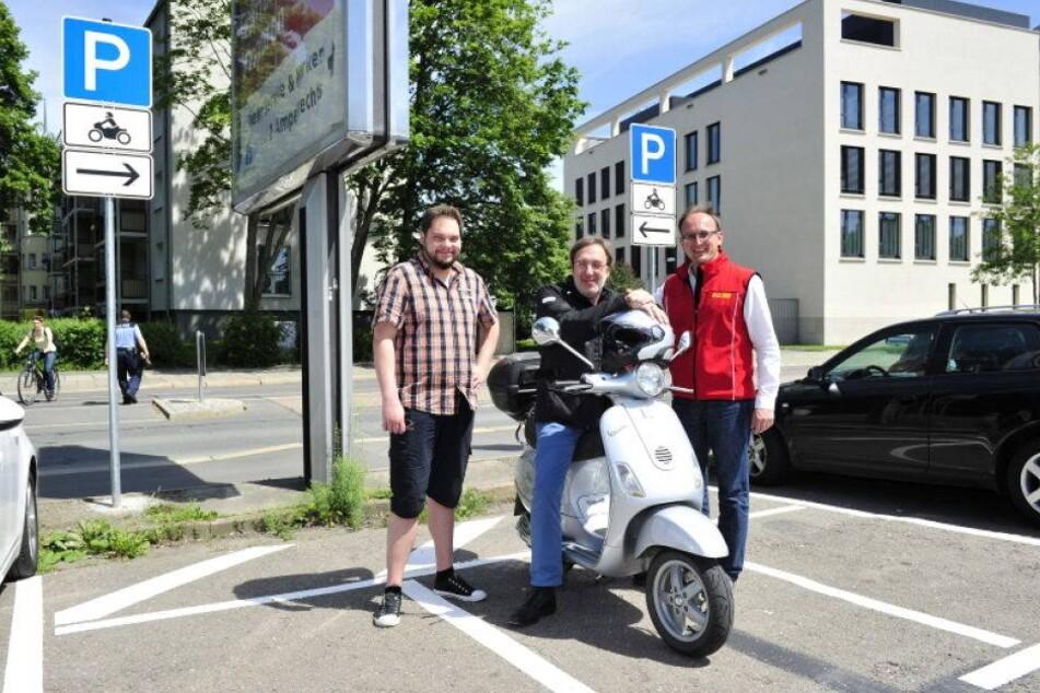 Rathaus richtet erste Zweirad-Parkplätze ein