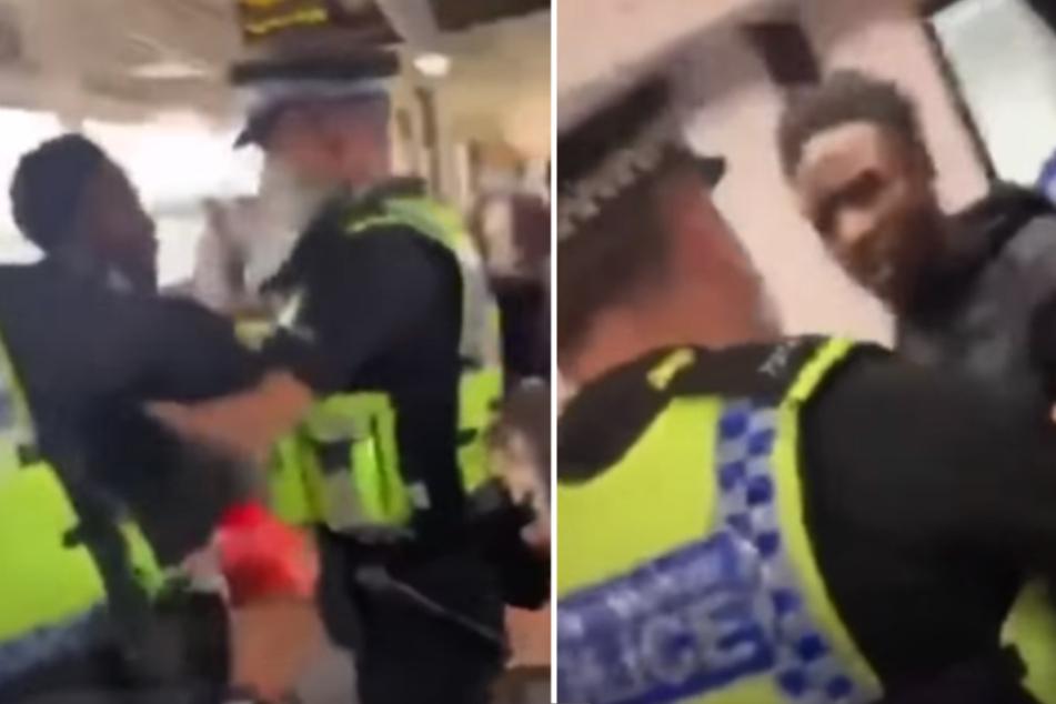 Maskenverweigerer von Polizisten gewaltsam aus Zug geschmissen