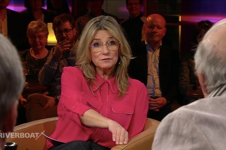 Riverboat-Moderatorin Kim Fisher wurde bei Jaecki Schwarz' Worten sentimental.