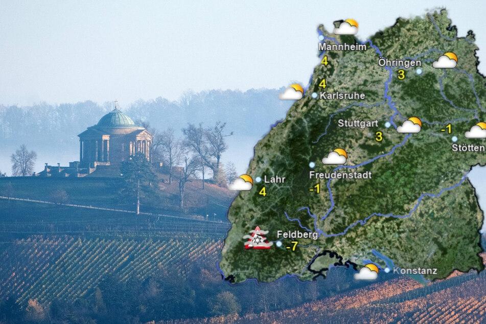 Teilweise Nebel und Reifglätte in Baden-Württemberg