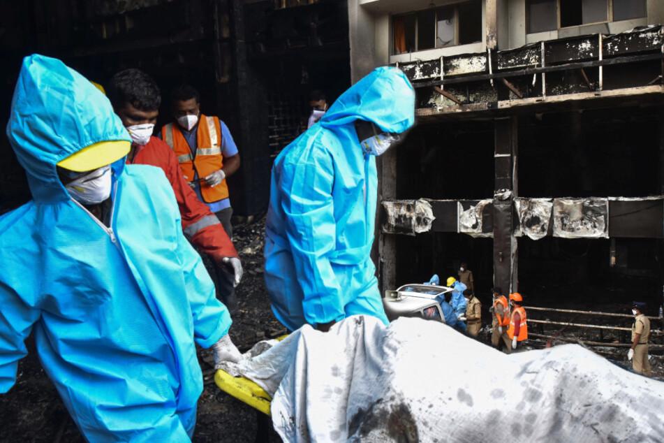 Brand in Covid-19-Zentrum: Zehn Menschen sterben in den Flammen