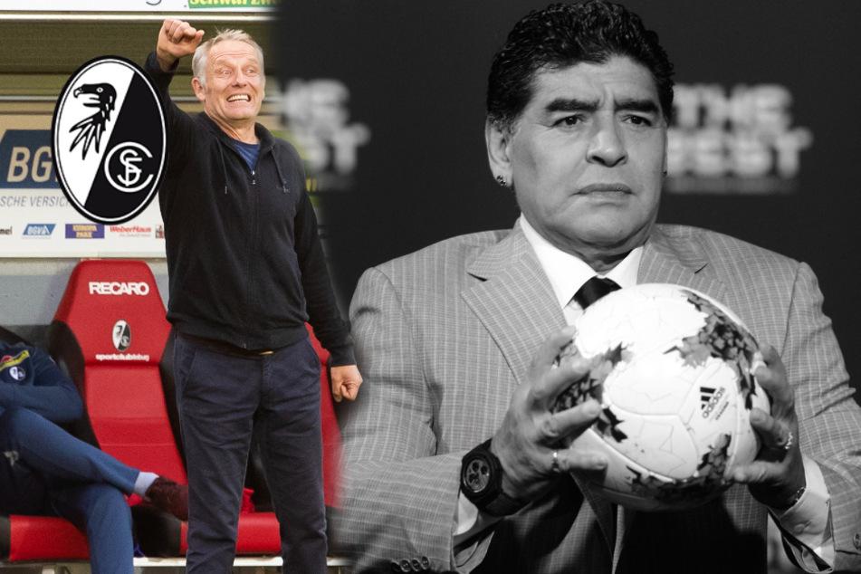Freiburg-Coach Streich: Liebe zum Fußball ist Liebe zu Maradona
