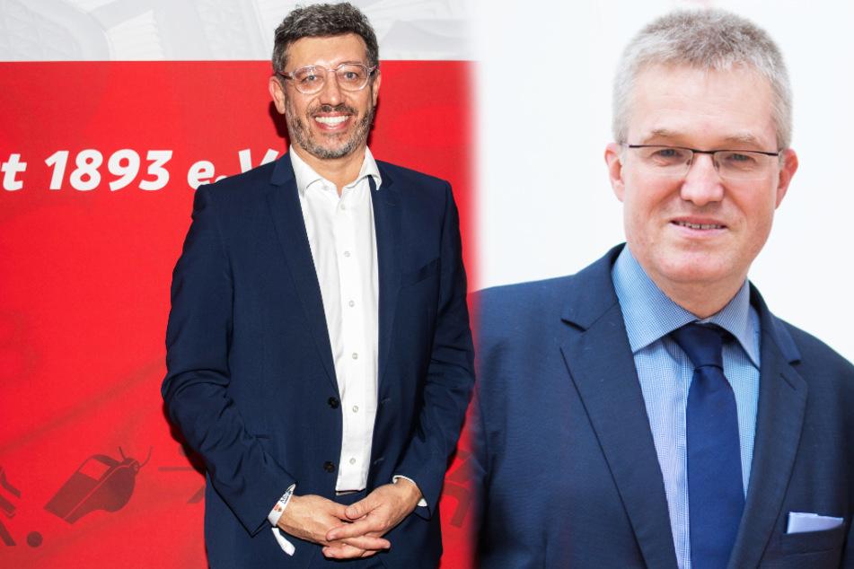 Claus Vogt (51, l.) und Pierre-Enric Steiger (49) duellieren sich um das Präsidentschaftsamt beim VfB Stuttgart.