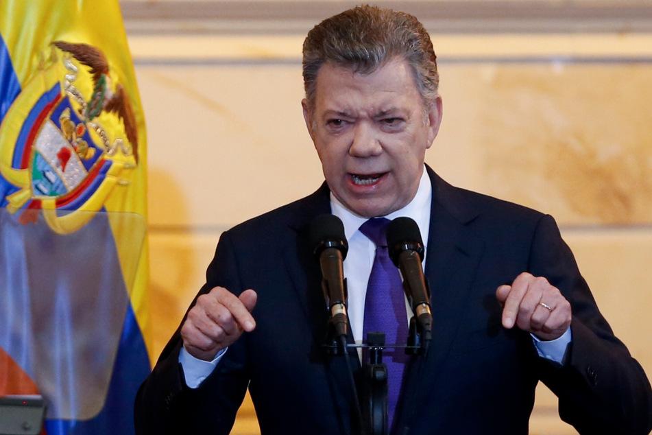 Der ehemalige kolumbianische Präsident Juan Manuel Santos (68). (Archivbild)