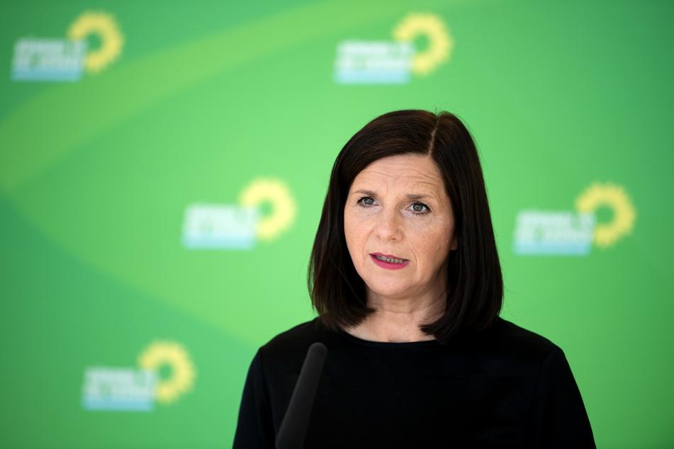 Katrin Göring-Eckardt, Vorsitzende der Bundestagsfraktion von Bündnis 90/Die Grünen, äußert sich vor der Sitzung der Grünen-Bundestagsfraktion im Deutschen Bundestag.