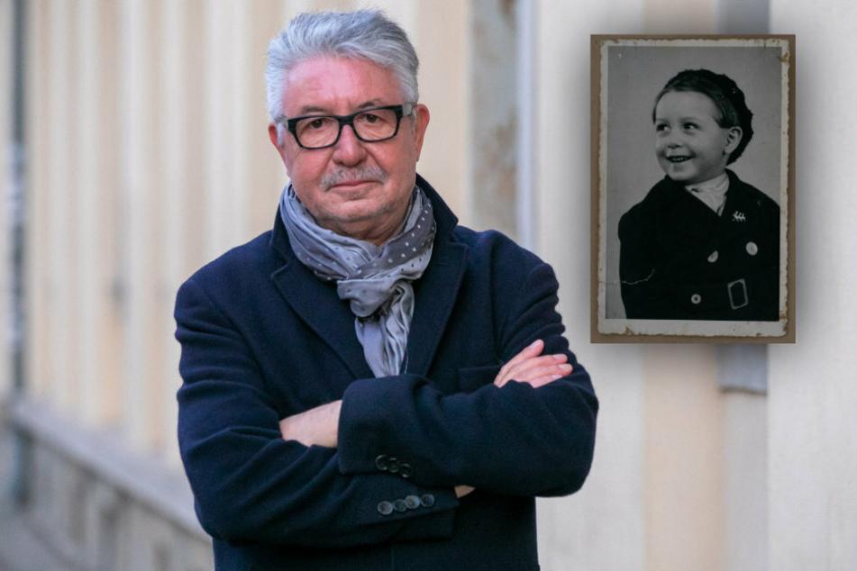 Boris Michael Gruhl (73) aus Dresden weiß bis heute kaum etwas über seinen Vater. Er wuchs unter schwierigen familiären Verhältnissen auf (Aufnahme aus der Nachkriegszeit, rechts).