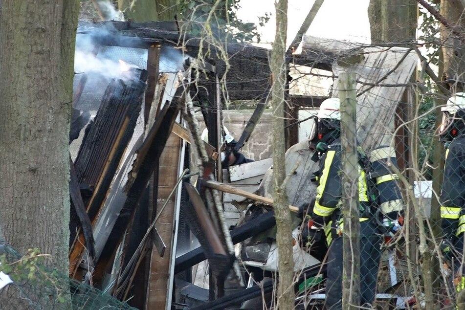 Leiche bei Brand in Gartenhütte entdeckt