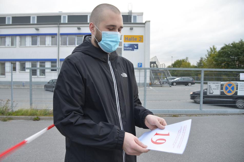 TAG24 war vor Ort: So läuft's gerade auf der Corona-Teststation in Chemnitz