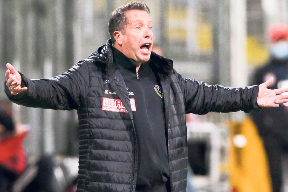 Das Gesicht sagt alles: Dynamo-Coach Markus Kauczinski war in München von der Leistung seiner Mannen her in den ersten 45 Minuten nicht begeistert.