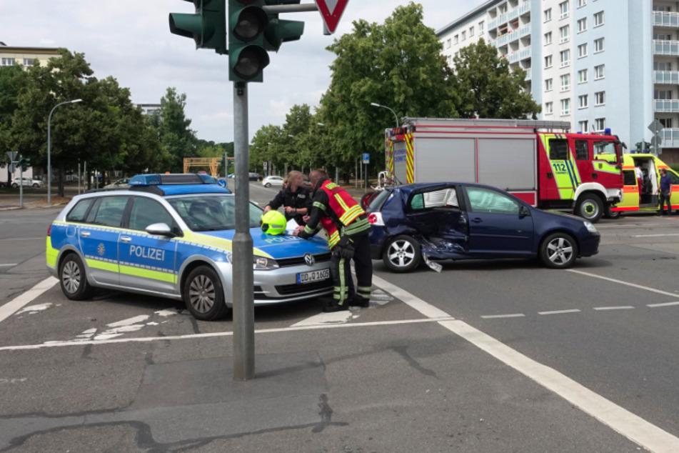 Schwerer Crash in Chemnitzer Zentrum