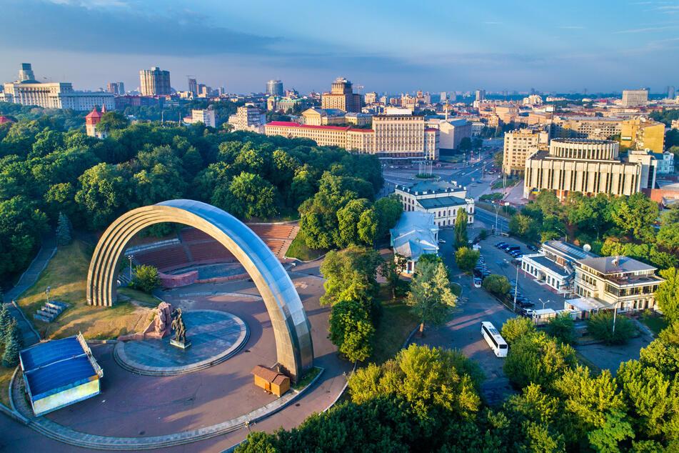 Blick auf Kiew, der Hauptstadt der Ukraine. Eurowings bietet ab sofort wieder Direktflüge ab Düssseldorf an.