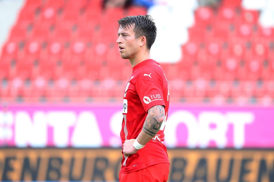 FSV-Mittelfeldmann Patrick Göbel (28) blickt kämpferisch nach vorn.