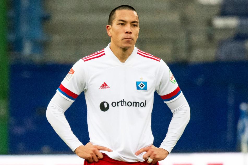 HSV-Stürmer Bobby Wood (28) ist nun seit 1000 Tagen ohne Pflichtspieltor für die Rothosen. (Archivfoto)