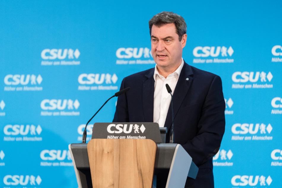 Markus Söder (CSU), Parteivorsitzender und Ministerpräsident von Bayern.