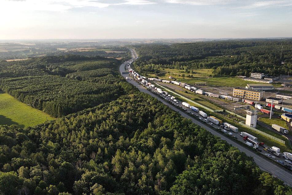 Auf der A2 Richtung Berlin bildete sich ein kilometerlanger Stau.