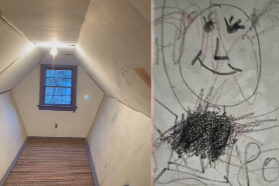 This room and its many scribbles made Mary S. shiver.