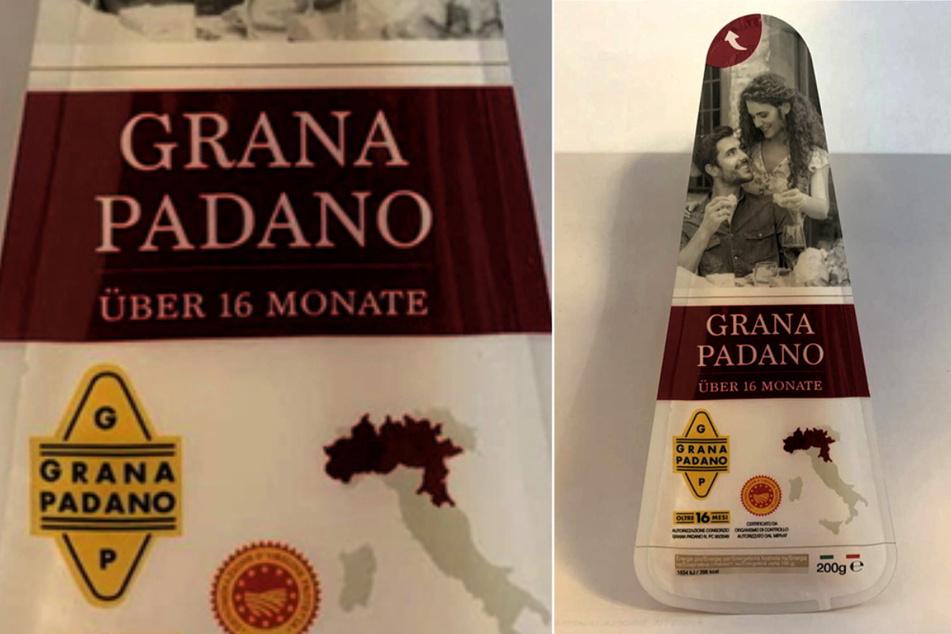 """Aus Gründen des vorbeugenden Verbraucherschutzes wird vorsorglich das Produkt """"Grana Padano, 16 Monate gereift, 200g"""" zurückgerufen."""