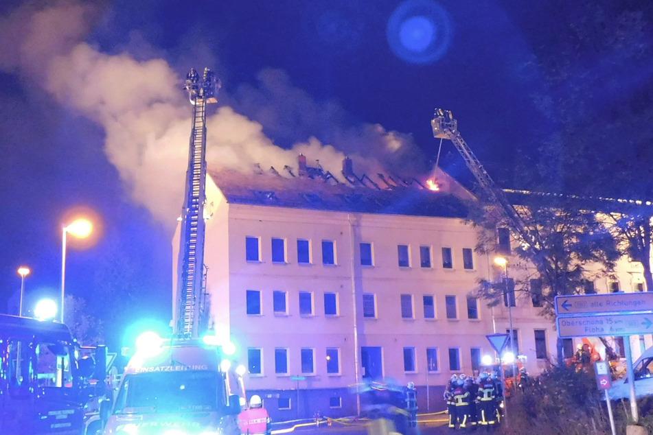 Chemnitz: Vier Verletzte bei Dachstuhlbrand in Frankenberg: Spendensammlung angelaufen