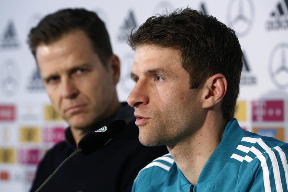 Thomas Müller wurde genau wie Mats Hummels und Jérôme Boateng bei der Nationalmannschaft aussortiert. Derzeit könnte man die Routiniers sicherlich gut gebrauchen. (Archivbild)
