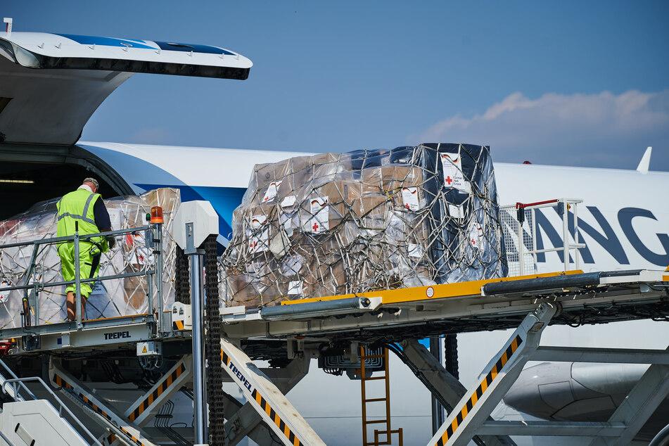 Am Samstag wurden Hilfsgüter aus Berlin nach Beirut gesendet.