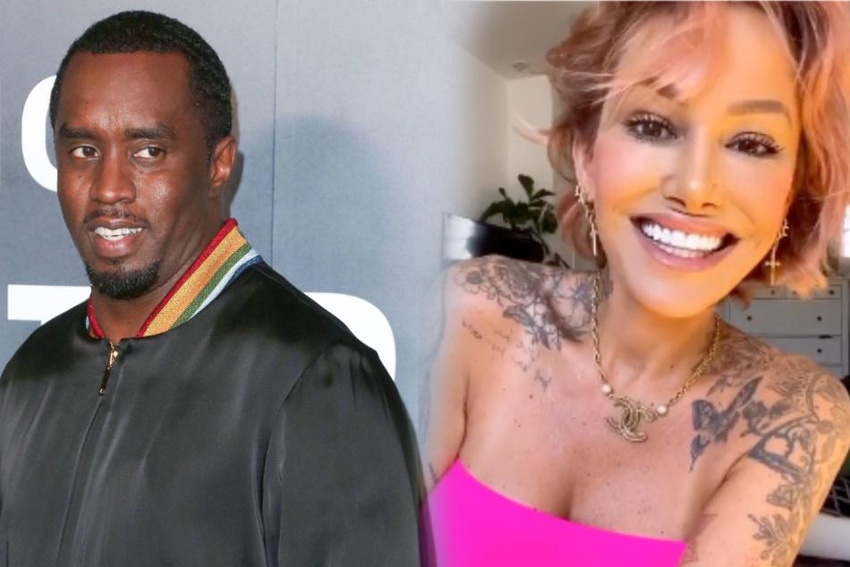 """Sean """"P. Diddy"""" Combs (50) und Model Tina Louise (39) wurden turtelnd am Strand von Malibu gesichtet."""