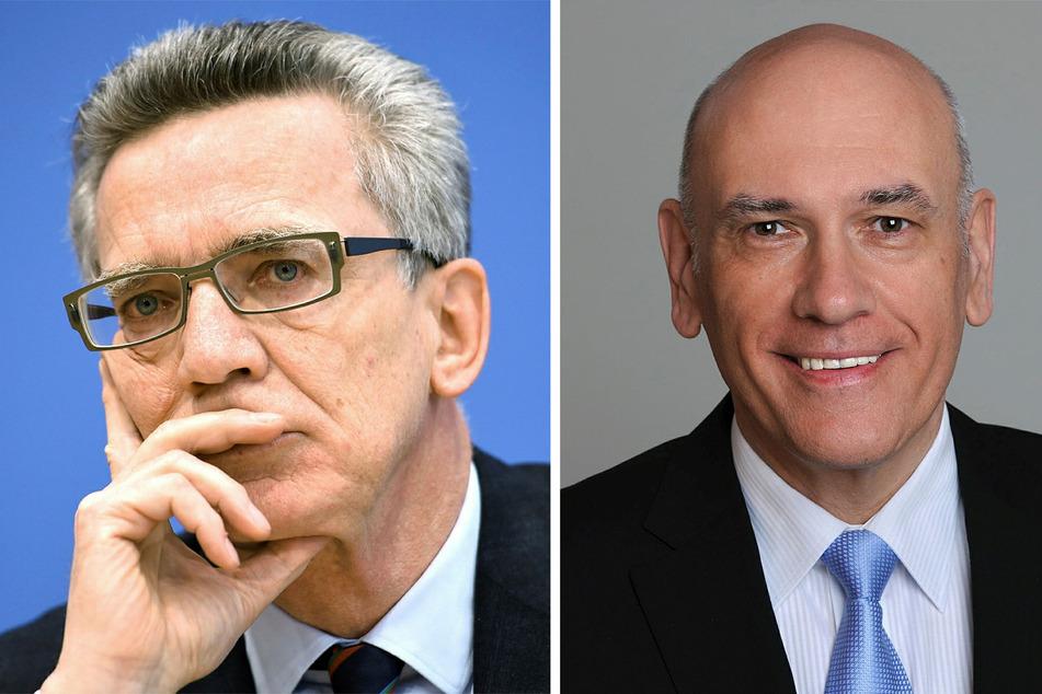 Thomas de Maizière (67, CDU, l.) und Thomas Jurk (58, SPD).